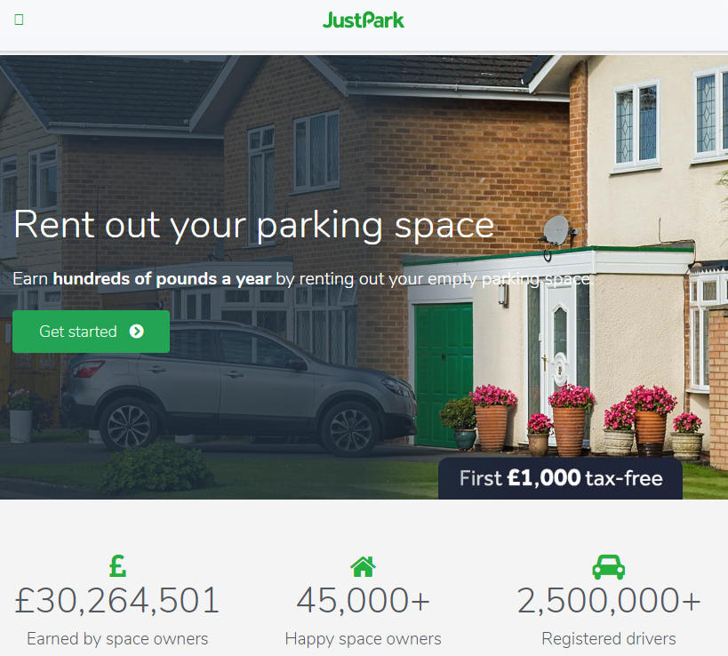 JustPark make money renting out your parking space