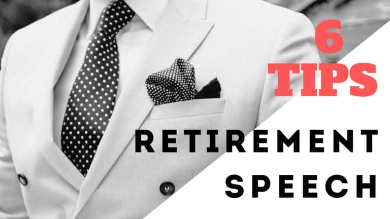 tips for giving an awesome retirement speech