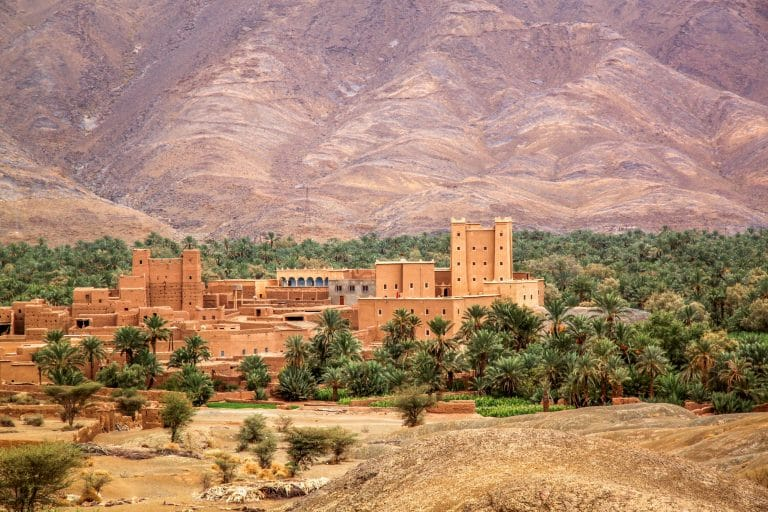 Village in the Draa Valley in Morocco