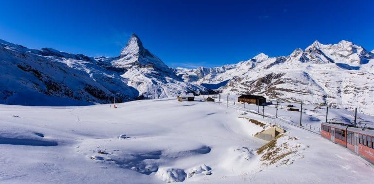 The Matterhorn and a train.